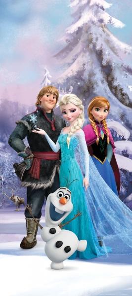 Fototapet Elsa, Anna, Kristoff si Olaf 0