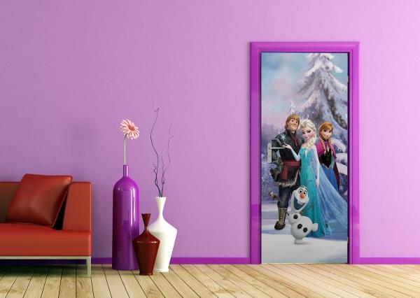 Fototapet Elsa, Anna, Kristoff si Olaf 1