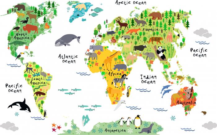 Fototapet Harta Lumii pentru Copii [0]