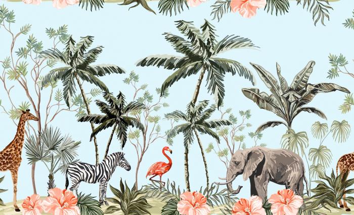 Fototapet Watercolor Jungle [0]