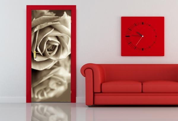 Fototapet Trandafir in Alb si Negru 1