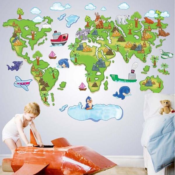 Harta animata a lumii pentru copii 1