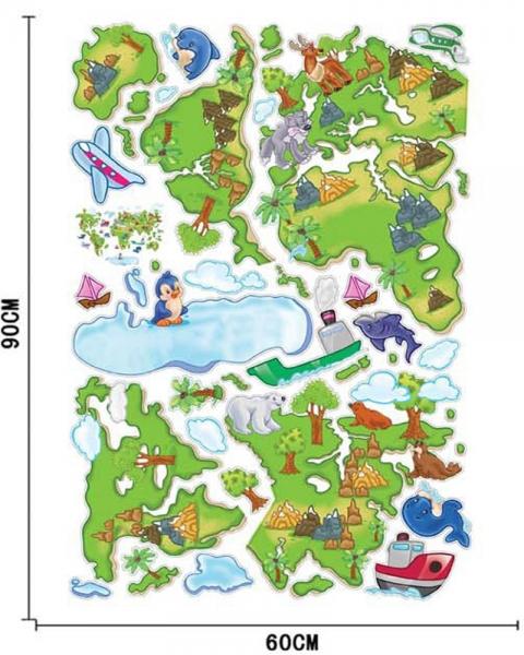Harta animata a lumii pentru copii 2