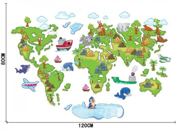 Harta animata a lumii pentru copii 3