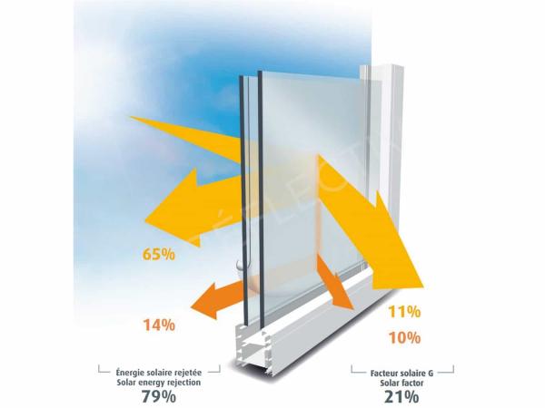 SOL 102 Folie argintiu inchis Exterior, Protectie solara 79%, 1000 x 1520 mm 1