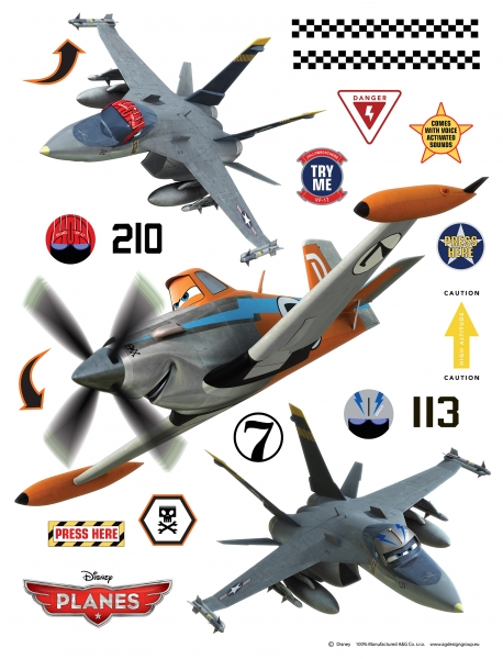 Sticker Avioane - Planes - 65x85cm - DK1772 0