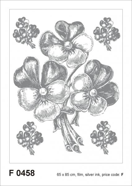 Sticker Panselute Argintii - Bunch Silver - 65X85cm - F0458 0
