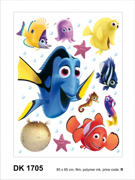 Sticker Nemo si Dory -  65X85cm - DK1705 1