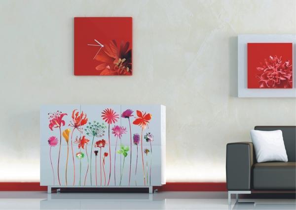 Sticker Flori Rosii - Red Nostalgia - 65X85cm - F0444 2
