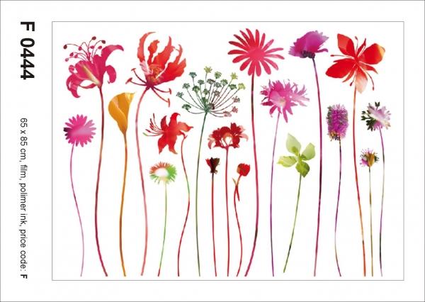 Sticker Flori Rosii - Red Nostalgia - 65X85cm - F0444 1