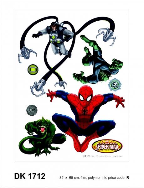 Sticker Spiderman si Monstrii - 65x85cm - DK1712 0