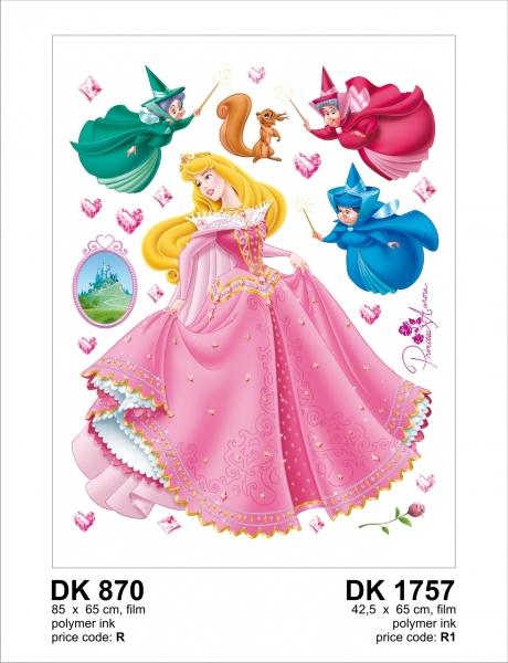 Sticker Frumoasa din Padurea Adormita - Aurora si Ursitoarele - 65x85cm - DK870 1