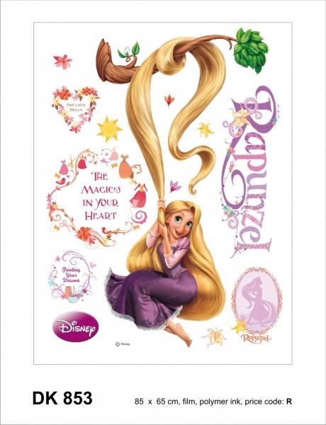 Sticker Rapunzel - 65x85cm - DK853 1