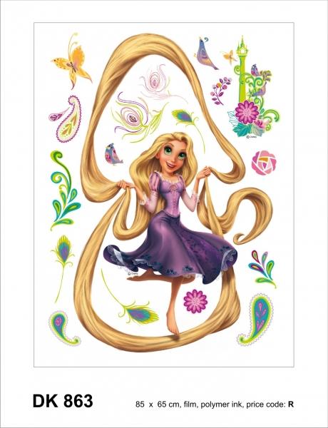 Sticker Rapunzel si Turnul - 65x85cm - DK863 1