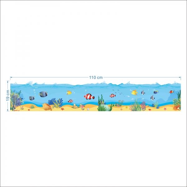 Sticker brauri decorative - Pesti in mare [4]