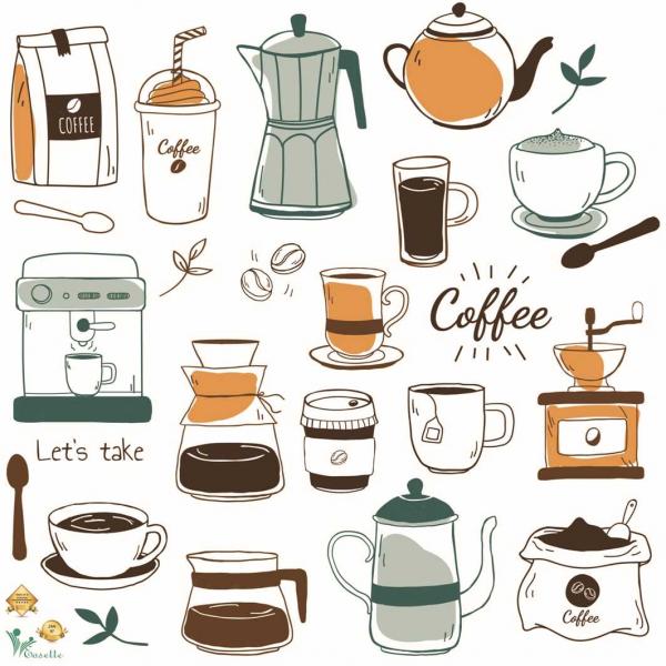 Sticker bucatarie - Cafea - 60x60 cm 0