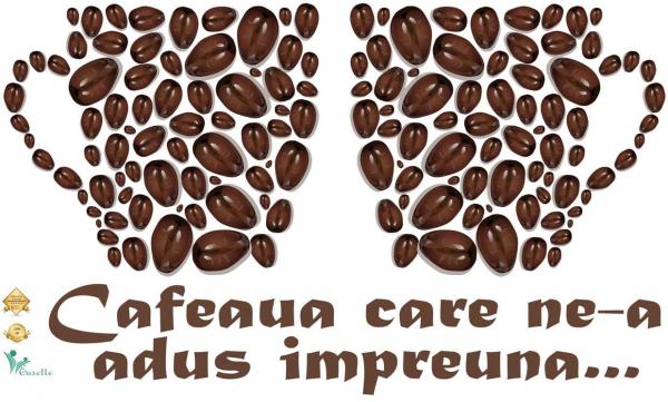 Sticker bucatarie - Cafeaua care ne-a adus impreuna - 70x40 cm 0