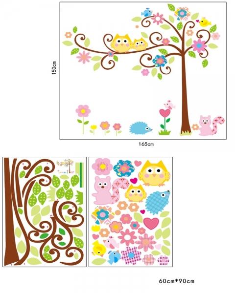 Sticker camere copii - Bufnite pe creanga 7