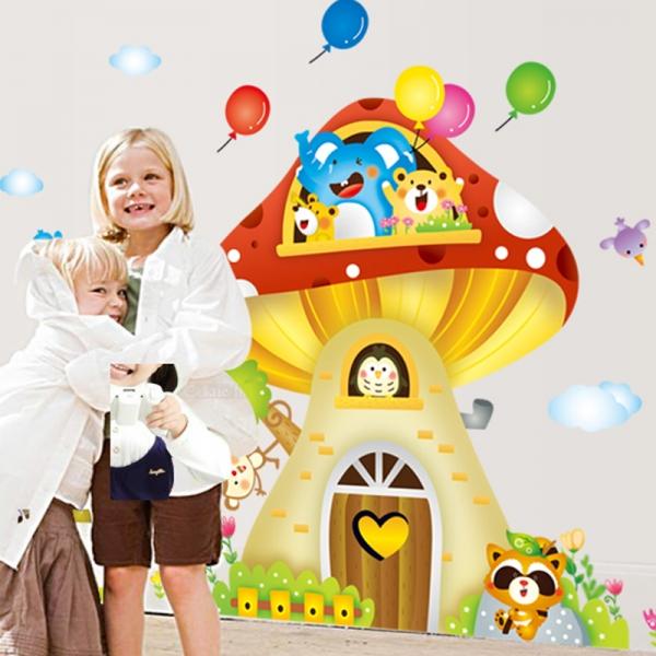Sticker camere copii - Casuta din ciuperca 2