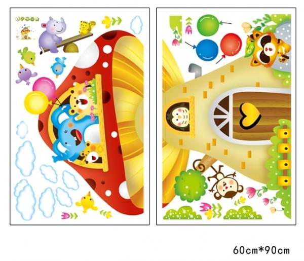 Sticker camere copii - Casuta din ciuperca 4
