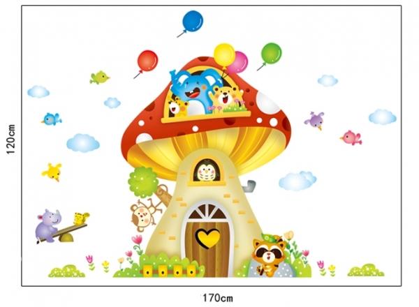 Sticker camere copii - Casuta din ciuperca 5