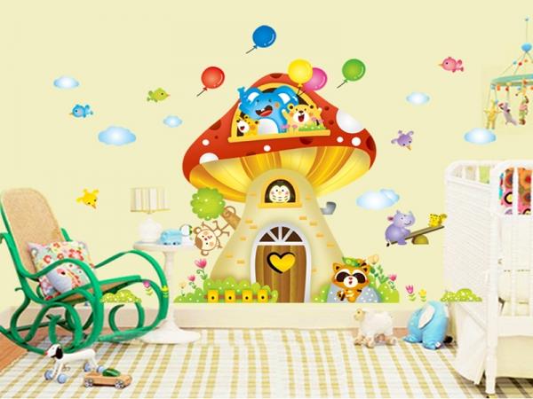 Sticker camere copii - Casuta din ciuperca 3