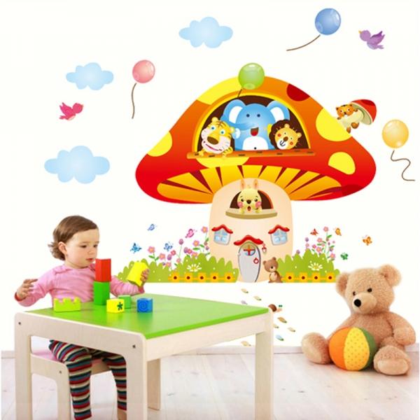 Sticker camere copii - Ciuperca uriasa 0