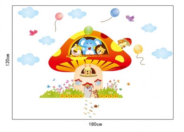 Sticker camere copii - Ciuperca uriasa 4