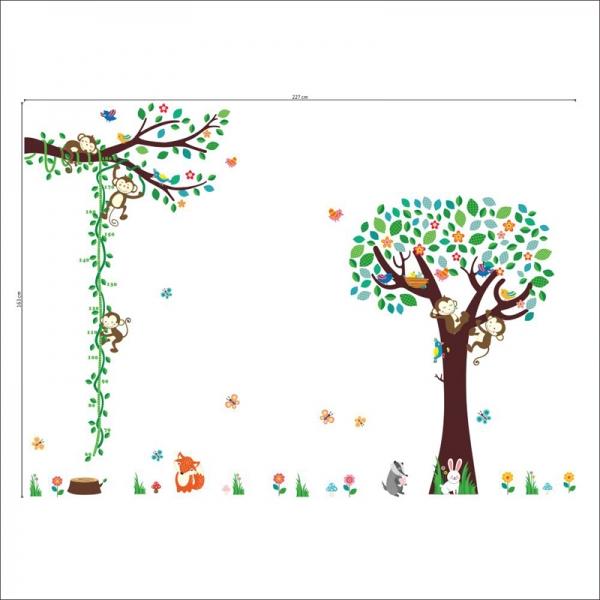 Sticker camere copii - Maimute in copac si pe liana 3