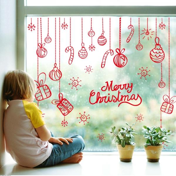 Sticker Craciun - Merry Christmas! - globuri si cadouri 8