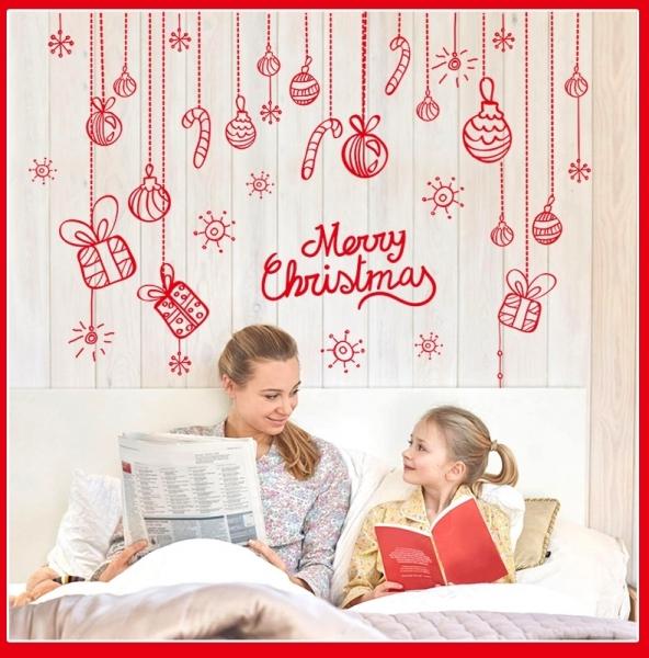 Sticker Craciun - Merry Christmas! - globuri si cadouri 3