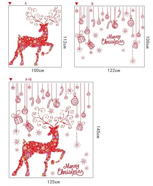 Sticker Craciun - Merry Christmas! - globuri si cadouri 7