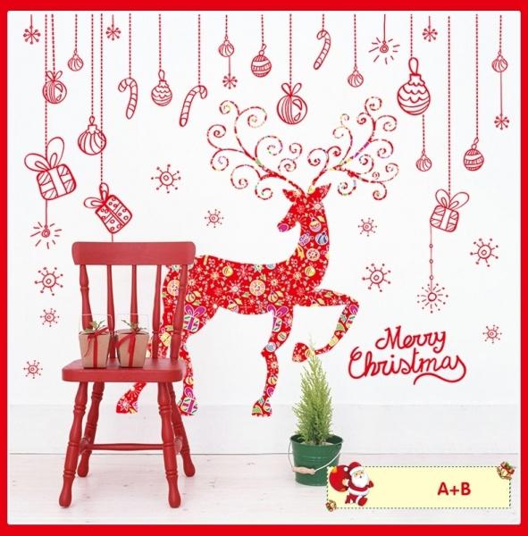 Sticker Craciun - Merry Christmas! - globuri si cadouri 4