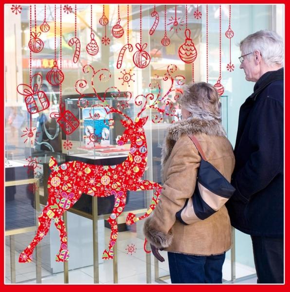 Sticker Craciun - Merry Christmas! - globuri si cadouri 5