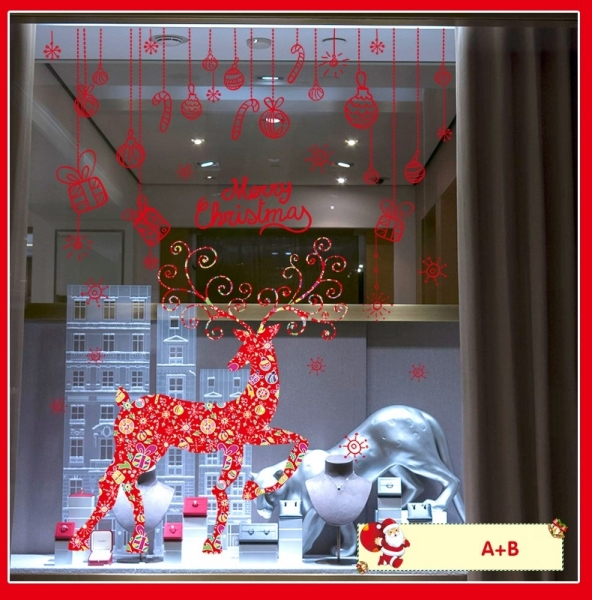 Sticker Craciun - Merry Christmas! - globuri si cadouri 9