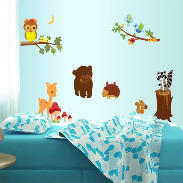 Autocolant de perete camere copii - Animalele padurii 4