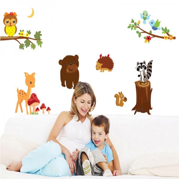 Autocolant de perete camere copii - Animalele padurii 1