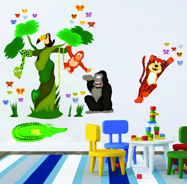 Sticker decorare camere copii - In jungla 0