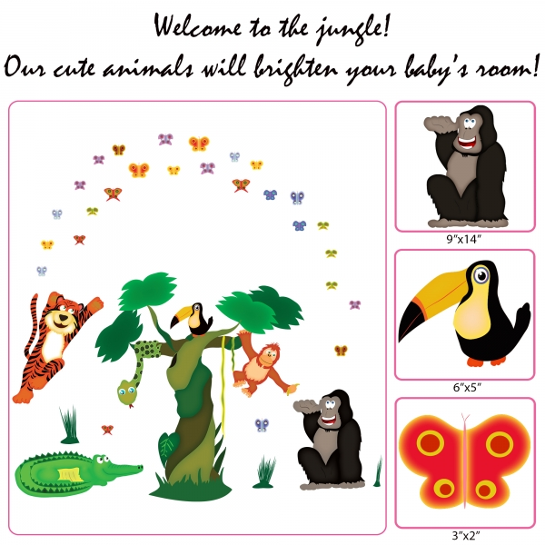Sticker decorare camere copii - In jungla 4