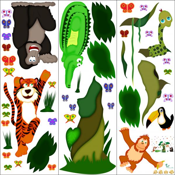 Sticker decorare camere copii - In jungla [2]