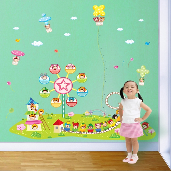 Sticker decorare camere copii - Masurator de inaltime - Parcul de distractii 3