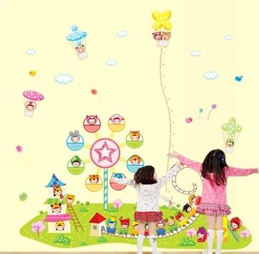 Sticker decorare camere copii - Masurator de inaltime - Parcul de distractii 1