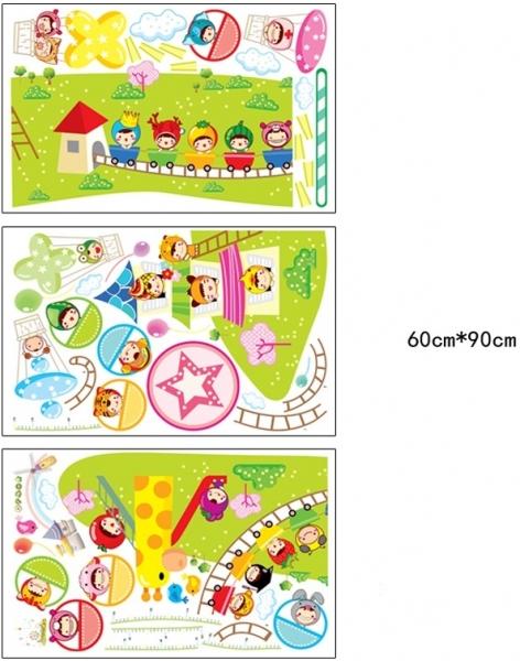 Sticker decorare camere copii - Masurator de inaltime - Parcul de distractii 4