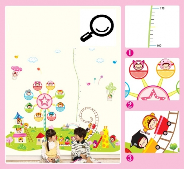 Sticker decorare camere copii - Masurator de inaltime - Parcul de distractii 5