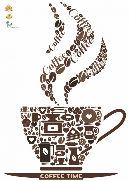 Sticker decorativ cafea - Ceasca de cafea - 50x70 cm [0]