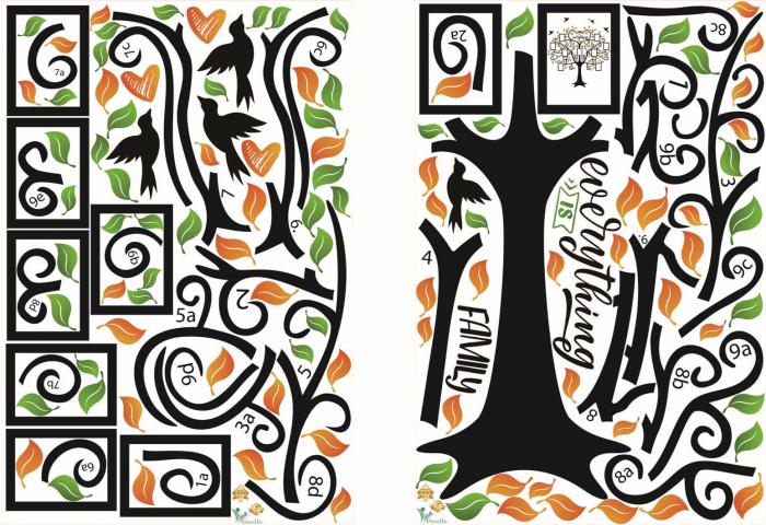 Sticker decorativ - Copac cu rame foto - Family is everything [4]