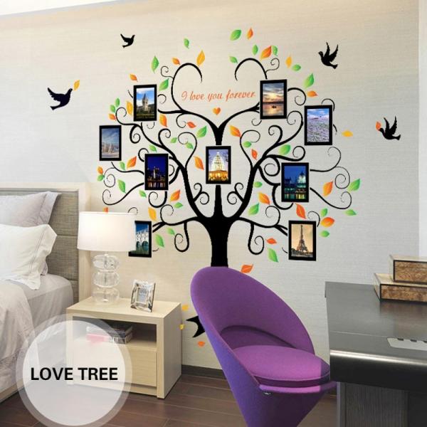 Sticker decorativ - Copacul iubirii cu rame foto 2