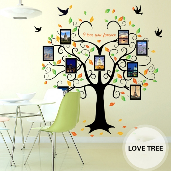 Sticker decorativ - Copacul iubirii cu rame foto 6