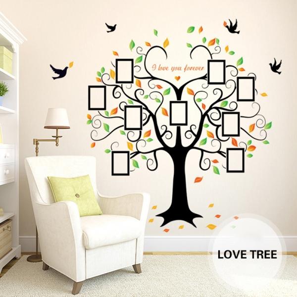 Sticker decorativ - Copacul iubirii cu rame foto 0