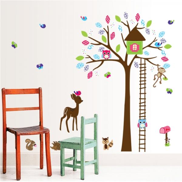 Sticker decorativ copii - Casuta din padure 4